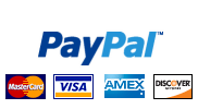 Credit Cards<br>& PayPal Accepted